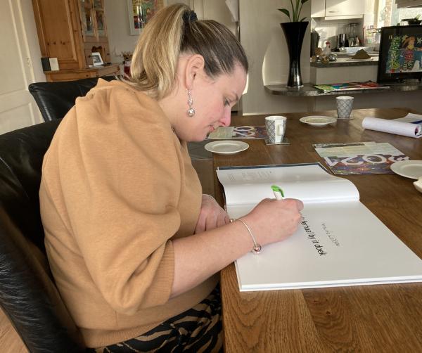 Miranda Dijkstra, signeren
