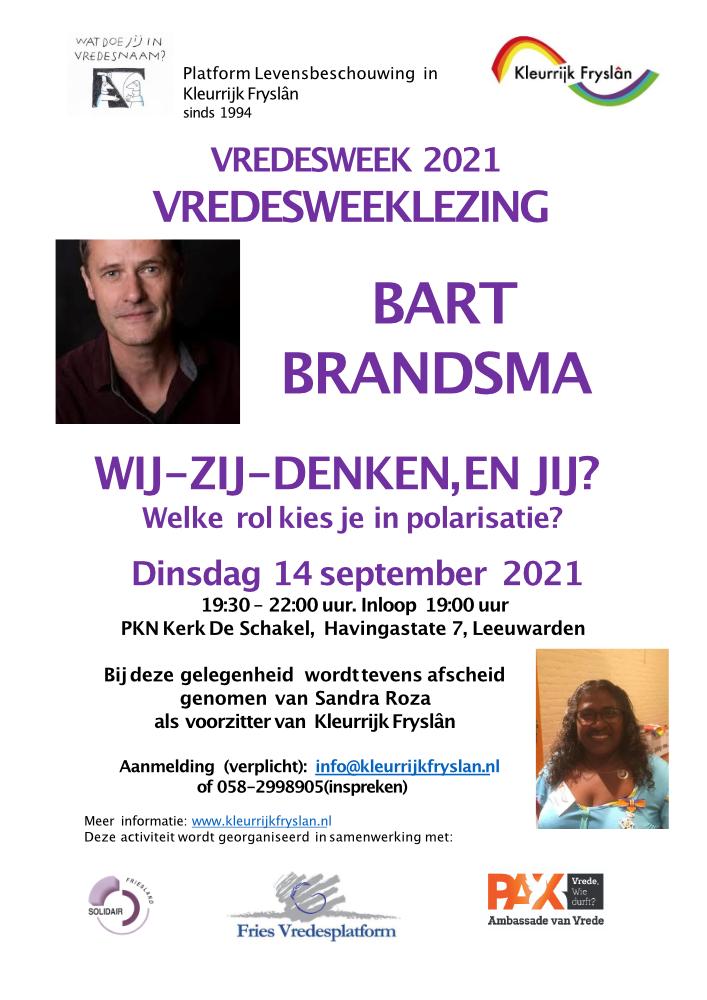 Flyer Vredesweeklezing Bart Brandsma 20210914